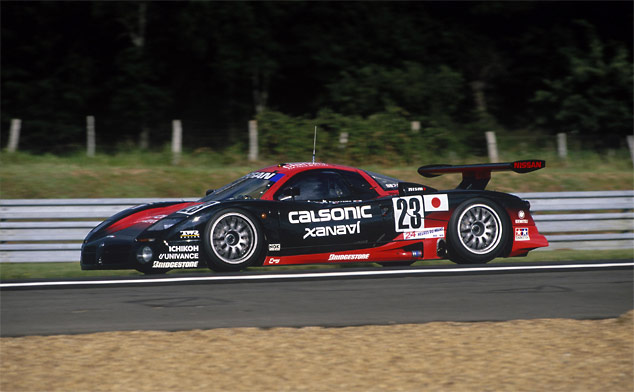 Nissan's R390 GT1 driven by Martin Brundle at Le Mans in 1987