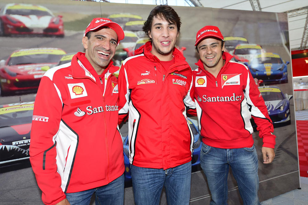 Ferrari record parade G13 Felipe Massa and Marc Gene lead a record breaking parade of Ferraris at Silverstone   w/VIDEO