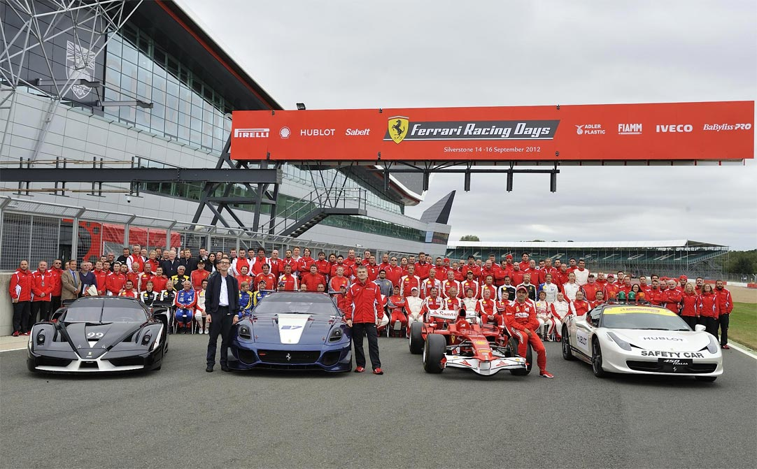Ferrari record parade G16 Felipe Massa and Marc Gene lead a record breaking parade of Ferraris at Silverstone   w/VIDEO