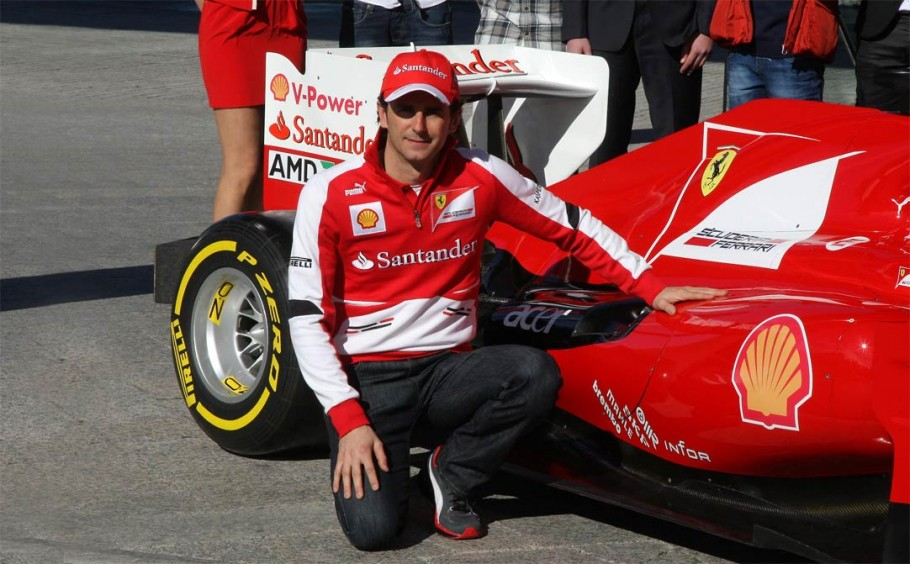 Pedro de la Rosa's first day at Ferrari