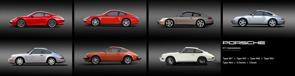 Porsche-911-Generations
